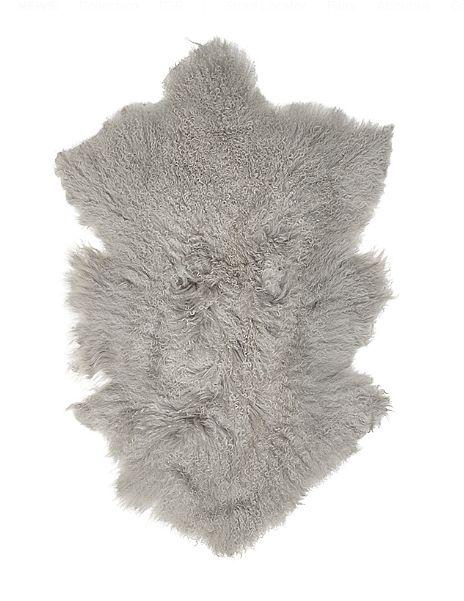Broste Copenhagen Peau déco d'agneau Tibet - gris - 50x90cm - Broste Copenhagen