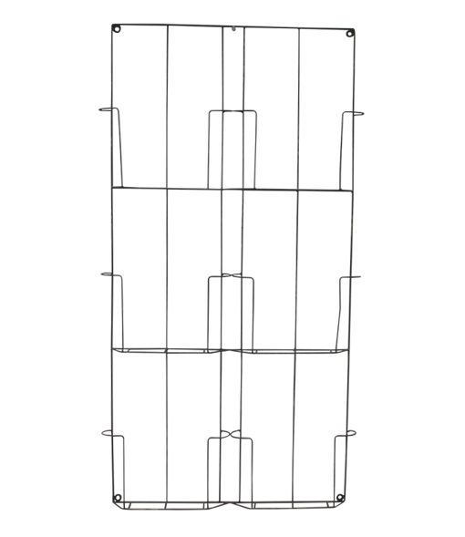 Evenaar Revistero de pared de metal - 97x53x4cm - Evenaar