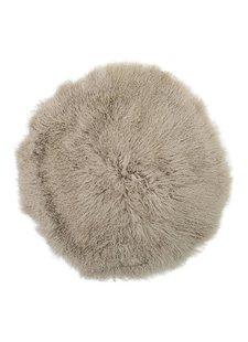 Bloomingville Tapis peau d'agneau déco - naturel - Ø90cm - Bloomingville