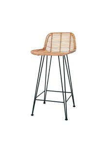 HK Living Tabouret de bar en rotin naturel - HK Living