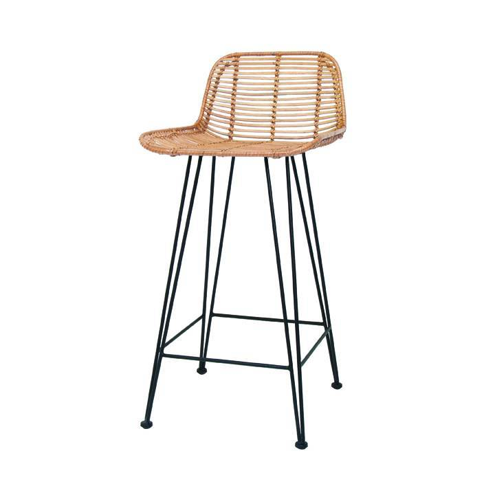 tabouret de bar en rotin naturel hk living petite lily. Black Bedroom Furniture Sets. Home Design Ideas