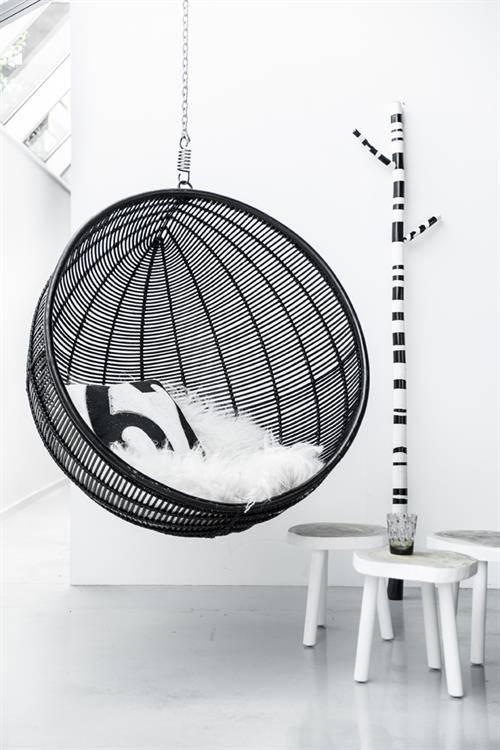 HK Living Mesa Auxiliar Baja  Árbol - negra - 33cm - Madera Negra - HK Living