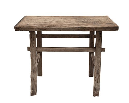 Table console vintage en Bois d'orme - Piece Unique - 102x45xh81cm