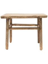 Natural coffee table - elm wood - 60x60x50cm