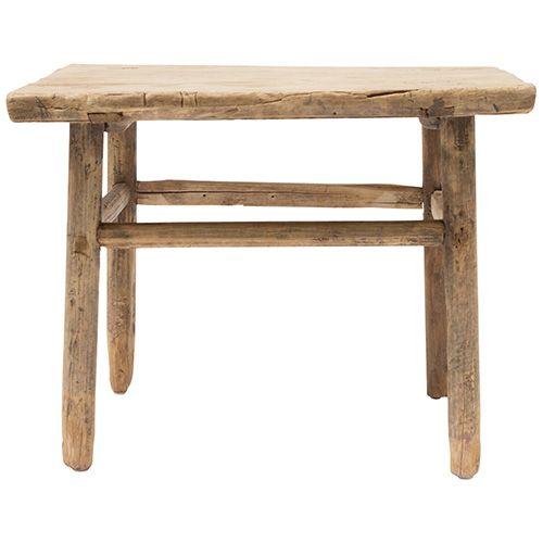 table basse naturelle 60x60x50cm bois d 39 orme petite lily interiors. Black Bedroom Furniture Sets. Home Design Ideas