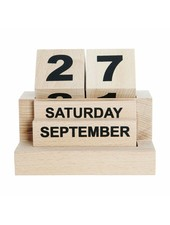 House Doctor Calendario 'Eternity' de madera - 12xh10,5cm - House Doctor