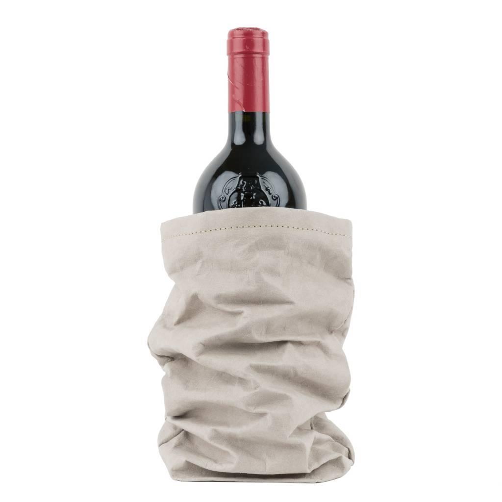 Uashmama Washable Paper Wine Bag Chianti with cooler - light grey - Uashmama