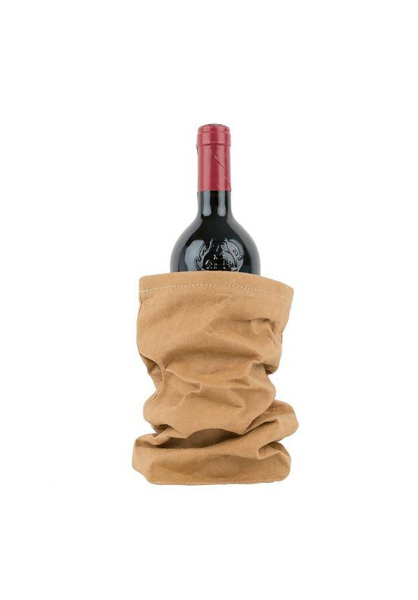 Uashmama Washable Paper Wine Bag Chianti with cooler - brown natural - Uashmama
