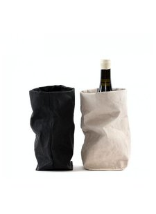 Uashmama Washable Paper Wine Bag Chianti with cooler - brown natural - Uashmama - Copy