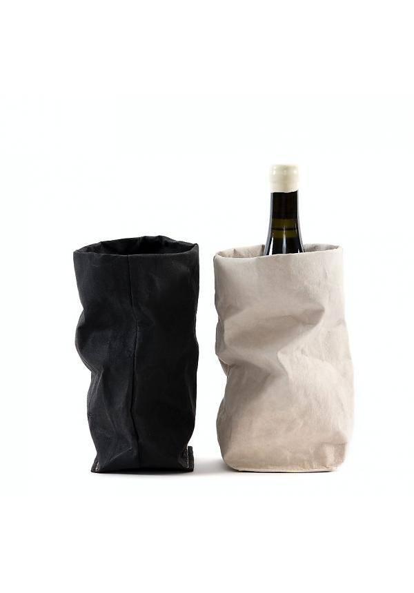 Uashmama Bolsa de papel lavable de Vino Chianti con Cooler - Negra - Uashmama