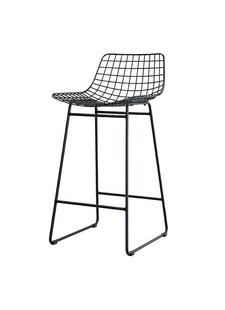 HK Living Tabouret de bar 'Wire' Scandinave - noir - HK Living