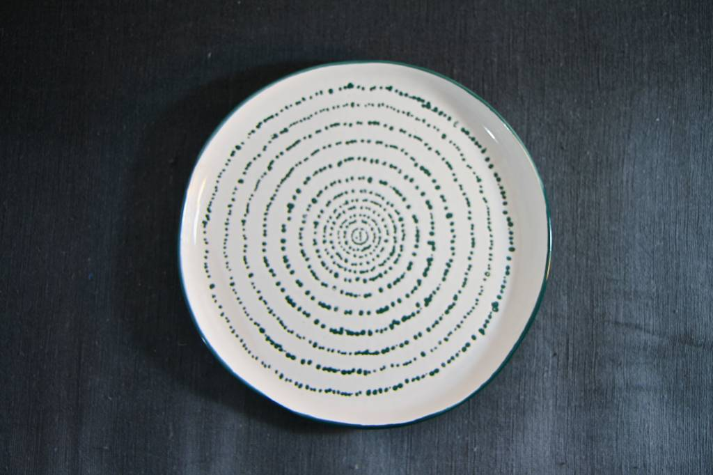 Urban Nature Culture - UNC Assiette KUBA art en grès - Ø22,5cm - UNC