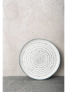 Urban Nature Culture - UNC Assiette KUBA art en grès - Ø22,5cm - UNC