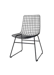 HK Living Scandinavian black metal chair wire - HK Living