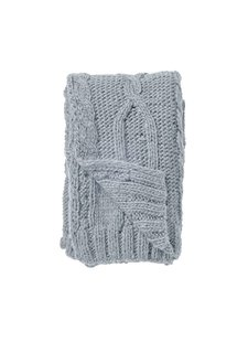 Bloomingville Chunky knit plaid - blue - 150x125cm - Bloomingville