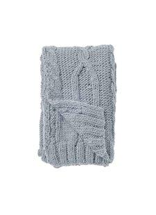 Bloomingville Plaid en tricot XL - Bleu - 150x125cm - Bloomingville