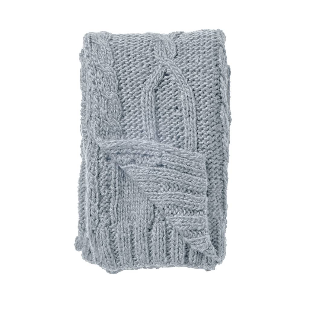 Bloomingville Chunky knit plaid - Gray - 150x120cm - Bloomingville - Copy