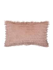 Bloomingville Coussin 100% coton - rose - 50x30cm - Bloomingville