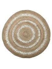 Bloomingville Round rug jute - natural black - Ø182cm - Bloomingville