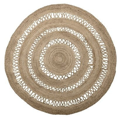 Bloomingville Round rug jute - natural black - Ø182cm - Bloomingville