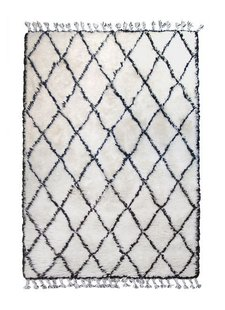 HK Living Berber rug - white with black diamond pattern - 180x280cm - HK Living