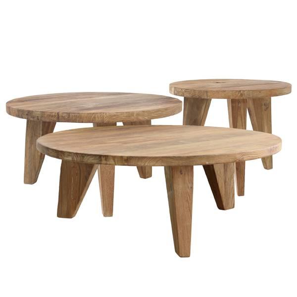 HK Living Table basse en teck - Ø65cm - HK Living