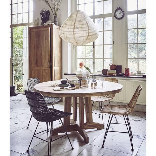HK Living Dinning table recycled teak - Ø140cm - HK Living