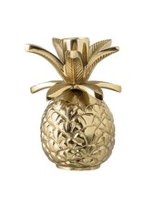 Bloomingville Candlestick pineapple - Gold / Aluminum - Ø9,5xH13,5cm - Bloomingville