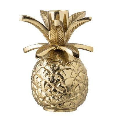 Bloomingville Candlestick pineapple - Gold / Aluminum - Ø9,5xH13,5cm - Bloomingville