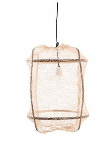 Ay Illuminate Z5 tea Sisal and Bamboo pendant lamp - Ø 42 cm - Black - Ay illuminate