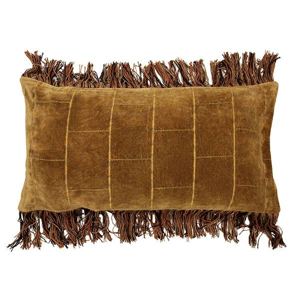 HK Living cushion shabby velvet - ocher- 35x70cm - HK Living
