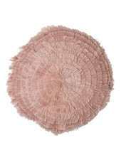 Bloomingville Coussin rond rose - Ø40cm - 100% coton - Bloomingville