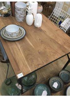 Oneworld Interiors Table pliante industrielle - metal en bois - 180x75xh76cm - One World Interiors