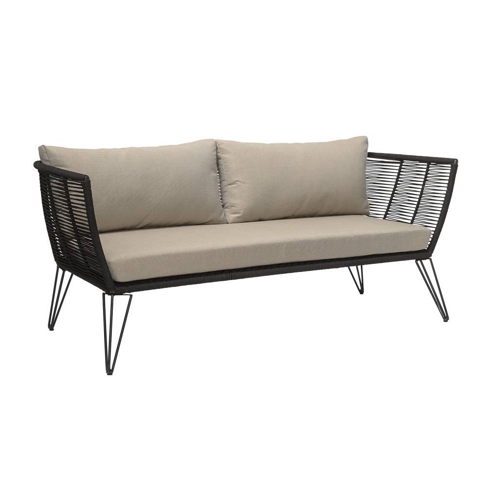 Bloomingville Sofa al aire libre - Negro / Crema - Bloomingville