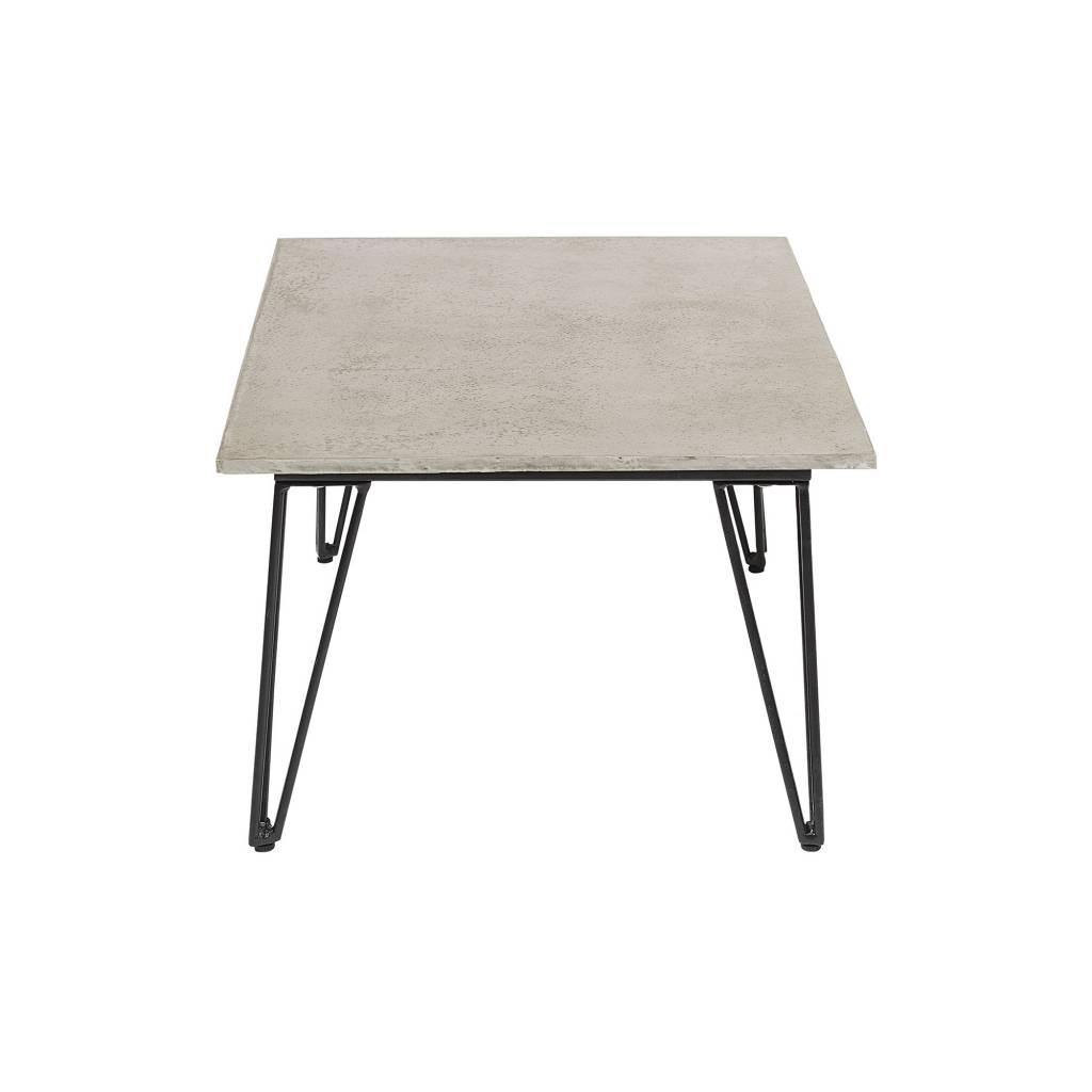 Bloomingville Mesa de café hormigón al aire libre - gris y negra - 90xA42x60 - Bloomingville