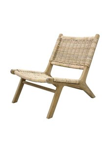 HK Living Occasional Chair wicker and wood - Natural - HK Living