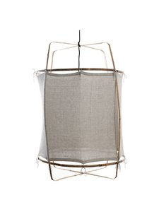 Ay Illuminate Z1 RUC pendant lamp bamboo and re-used coton - grey - Ø 67cm x H100cm - Ay illuminate