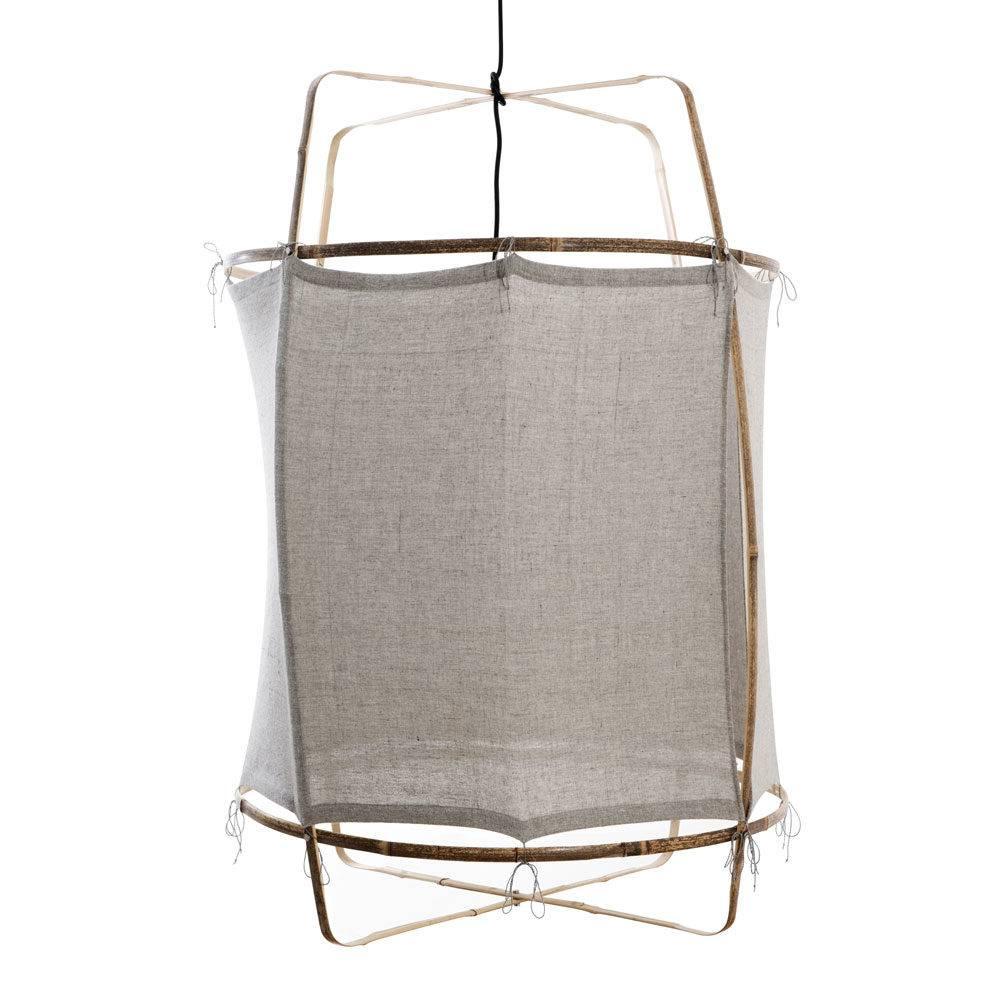 Ay Illuminate Z1 RUC pendant lamp bamboo and re-used - grey - Ø 67cm x H100cm - Ay illuminate
