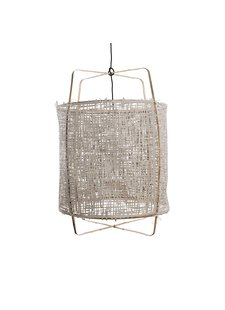 Ay Illuminate Z1 pendant lamp bamboo and grey paper - Ø 67cm x H100cm - Ay illuminate