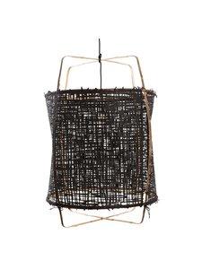 Ay Illuminate lámpara Z1 de bambú y papel negro - Ø 67cm x H100cm - Ay illuminate