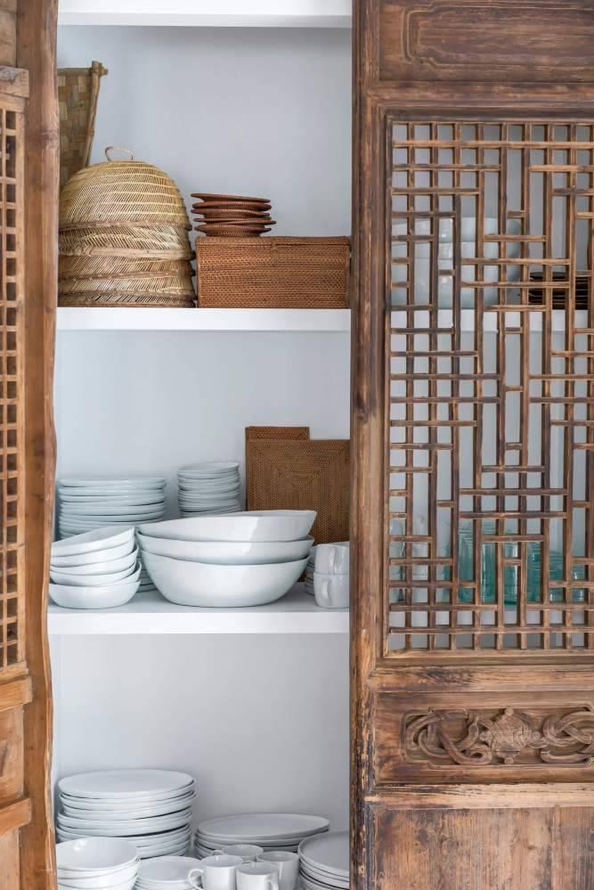 Vibrations Boho dans cette maison d'un designer Espagnol, vu sur le superbe blog de Planet Deco.