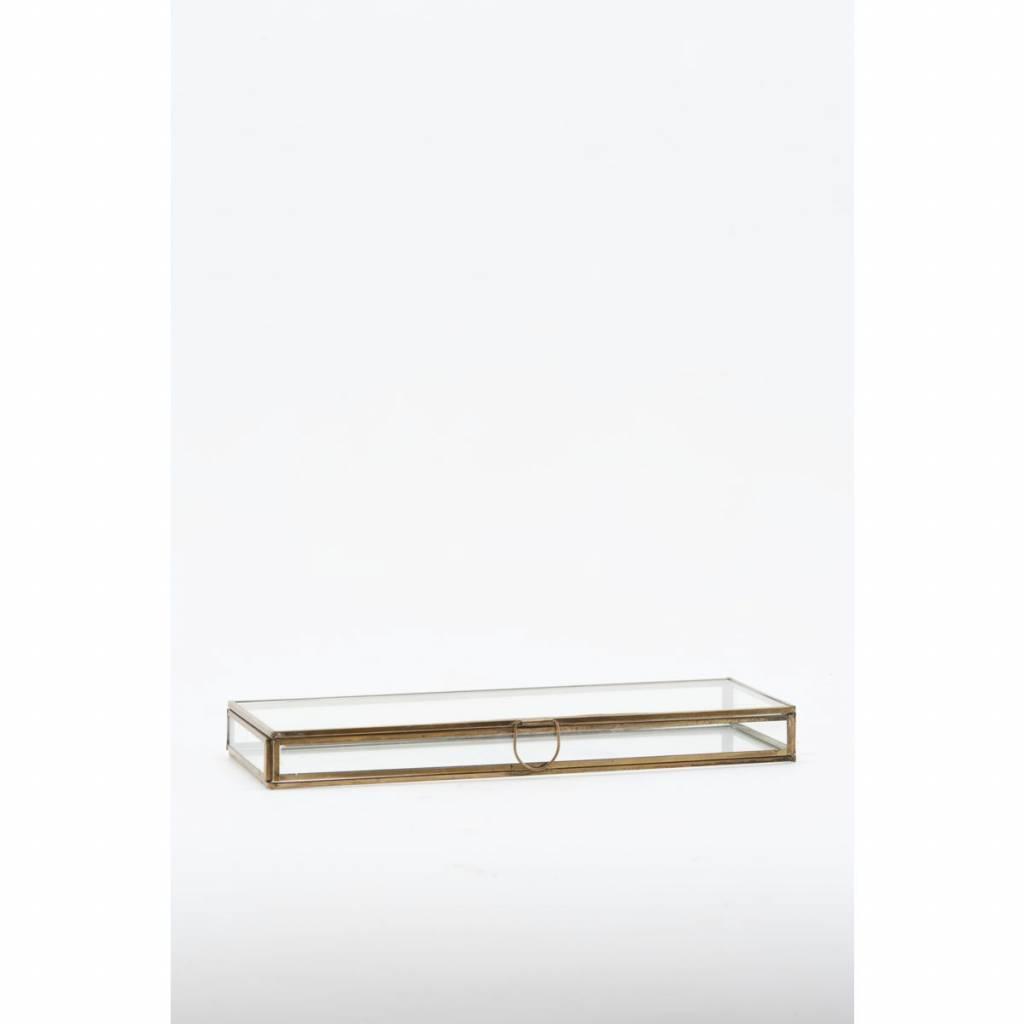 Monograph Cajas de joyas de vidrio / latón - 31x11x3cm - House Doctor