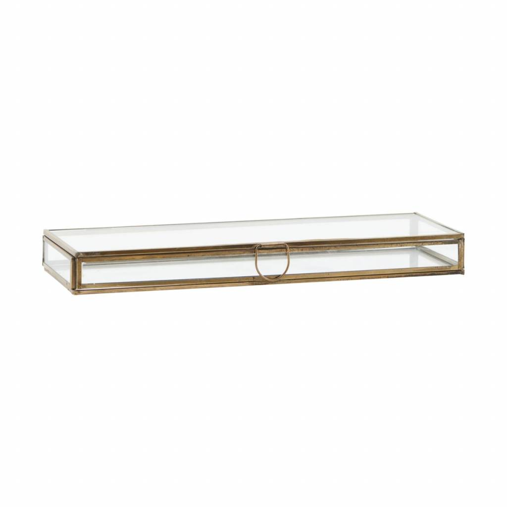 Monograph Display box glass / brass - 31x11x3cm - House Doctor