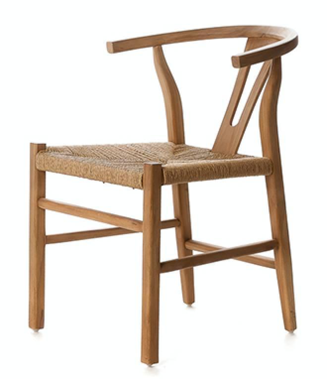 Dareels Dinning Chair ROB in wood et robe - Natural - Dareels