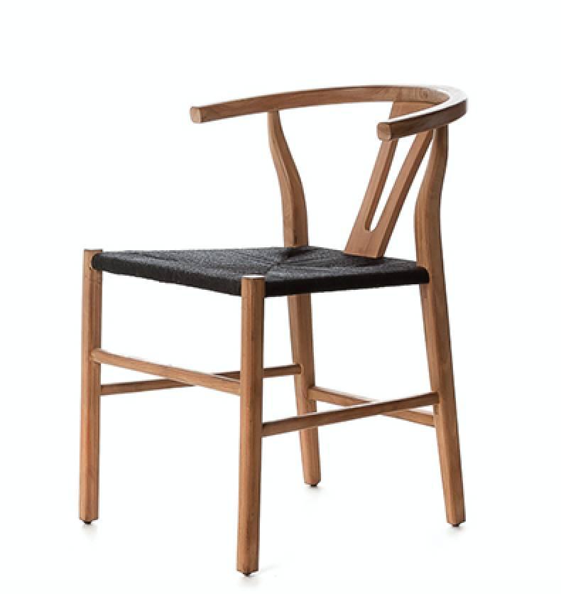 Dareels Dinning Chair ROB in teak et robe - Naturel / Black  - Dareels