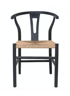 Dareels Dinning Chair ROB in teak et robe - Black / Natural  - Dareels