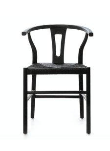Dareels Dinning Chair ROB in teak et robe - Black  - Dareels