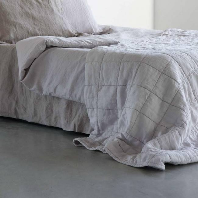 House in Style linen bedspread washed 'Nice' - perl gray - 130x250cm - House in Style