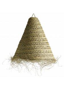 TineKHome Suspension à franges Marocaine en feuilles de palmier - Ø70xh65cm - naturel - Tine k Home
