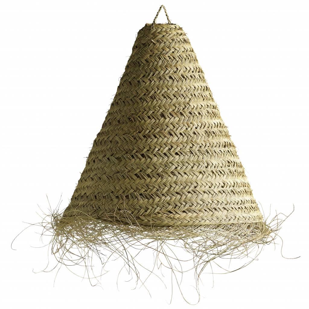 Tinekhome Lámpara marroquí con flecos en hojas de palm - Natural - Ø70xh65cm - naturel - Tine k Home